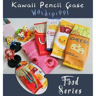 Kawaii Waterproof Pencil Case - Food Series