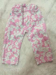 GUC crib couture pink floral pants 18mos