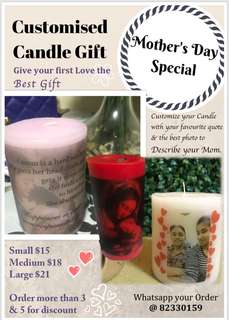 Customise Candle Gift