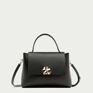 Zara City Bag w/ Metal Clasp Original