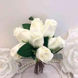 Artificial hand bouquet