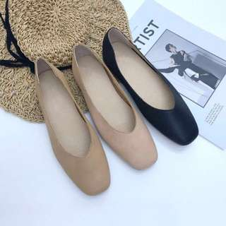 Square Toe V Cut Flats