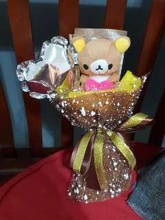 Rilakumma balloon mini bouquet