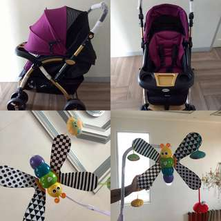 Stroller and Musical Mobile