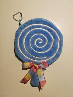 Lollipop keychain pouch