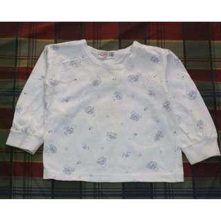 🚚 二手~童裝 心褔 長袖 T恤 衛生衣 內衣 上衣~2號
