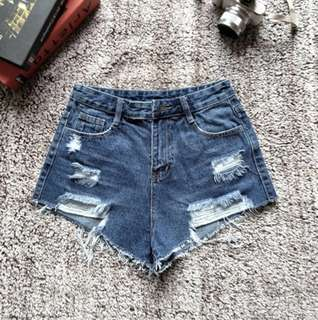 INSTOCK Ripped Denim Shorts
