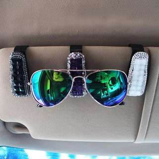 Car glasses clip car glasses clip sunroof sunshade sunglasses frame car crystal diamond eye clip