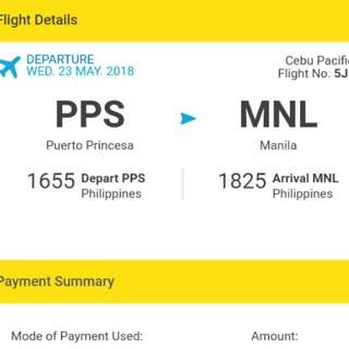 Puerto Princesa to Manila tickets for 2
