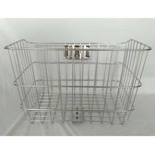 不鏽鋼菜籃(含不鏽鋼螺絲包)  不鏽鋼車籃 自行車不鏽鋼菜籃 腳踏車不鏽鋼菜籃
