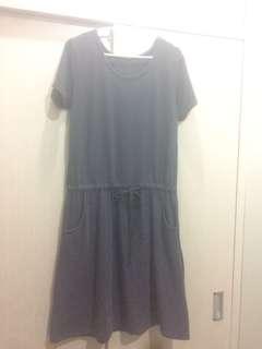 Dress abu abu