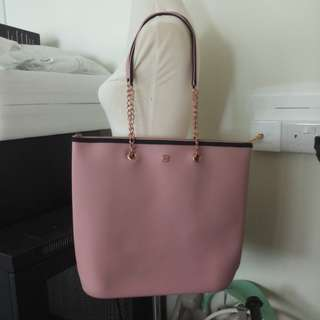 Preowned E2G Pink silicone shopping bag with rose gold hardware