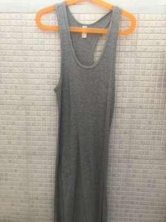 American apparel grey rib racer back dress