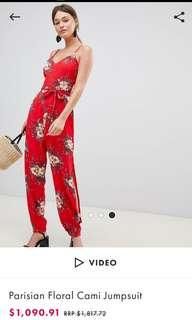 🚚 Asos Parisian floral cami jumpsuit