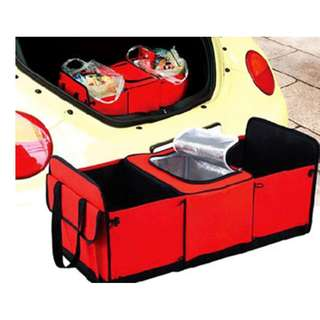 SHOPPY CAR STORAGE ORGANIZER WITH COOLER COMPARTMENT