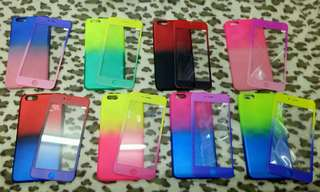 Ombre cases w/tempered glass