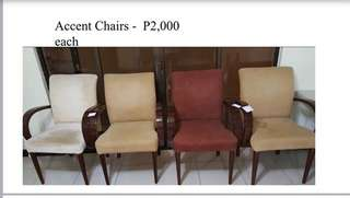 Accent Chairs (Second Hand-Sold per piece)
