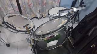 Purecussion shell less drumset