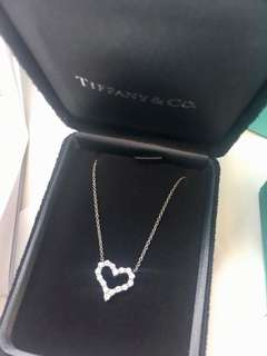 Tiffany & Co 最新心形鑽石頸鍊