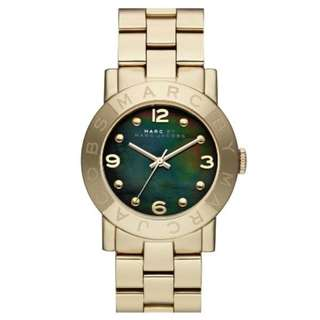 AMY MOTHER OF PEARL DIAL GOLD-TONE STAINLESS STEEL LADIES WATCH MBM3273