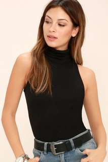 {bn} black turtleneck sleeveless top