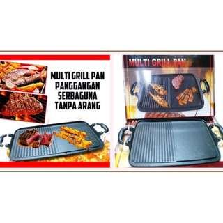 Multi Grill Pan Panci Panggang Sehat Tanpa Arang Untuk Bakar Steak Ikan & Daging