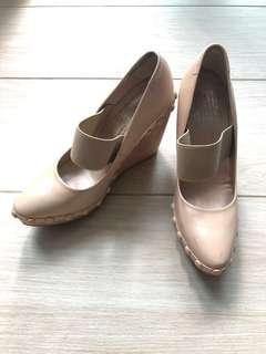pedro garcia nude wedge heels