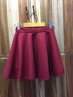 Maroon Skater Skirt