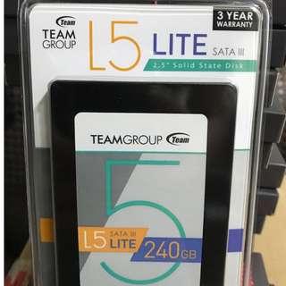 全新十銓L5 Lite240g SSD 3年保台灣製造 有0800