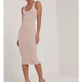BNWOT Missguided ribbed tank dress - free size