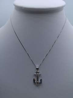 18k Anchor Pendant