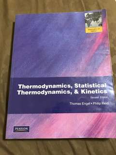 Thermodynamics 2nd Edition by Thomas Engel and Phillip Reid