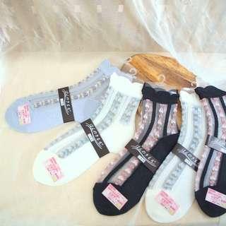 日本制🇯🇵透氣舒適蕾絲襪子