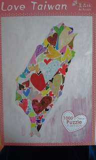 Hearts Love Taiwan Puzzle 1000 pieces