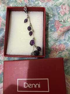 Dennis necklace with purple stones