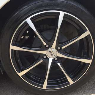 Honda jazz city mugen sport rim md8 17 potenza re003 205 45 r17