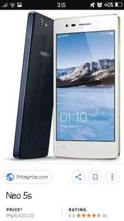 RUSH PHONE SALE. OPPO NEO 5 black