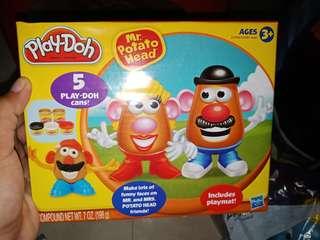 5 play doh cans Mr. Potato Head