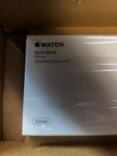 *配件系列*全新Apple Watch S/M白色錶帶 全新未開