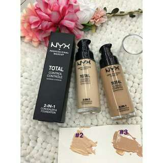Nyx total control liquid foundation