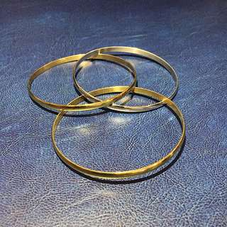 Two-Tone Stainless Bangle