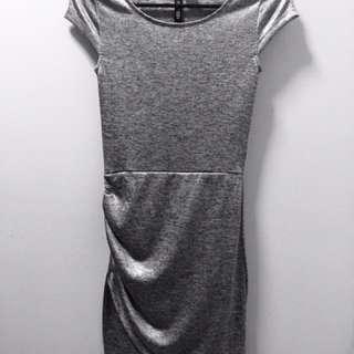 H&M SILVER BODYCON DRESS