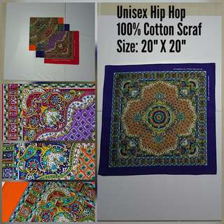 Unisex Hip Hop 100% Cotton Scraf (3/20)