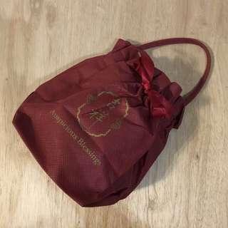 🚚 🌕紅色吉祥印花束口布袋