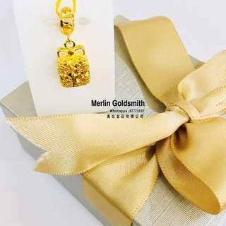 916 Gold Presents Box Charms / 916 黄金礼物吊坠