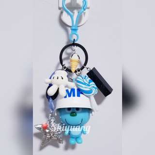 Monster white cap Keycharms