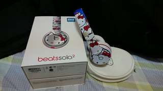 Beats solo2 hello kitty聯名款耳機