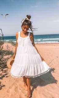 Blue Vanilla - white beach dress
