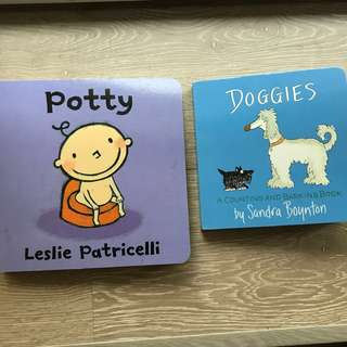 Brand new baby books (Potty/doggies) by Leslie Patricelli and Sandra Boynton