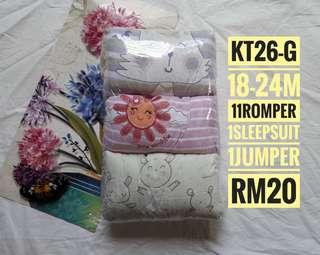 ROMPER SLEEPSUIT 18-24M